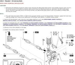 2013 Mazda3 / Mazdaspeed3 Factory Repair Service Manual - $15.00