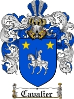 Primary image for Cavalier Family Crest / Coat of Arms JPG or PDF Image Download