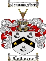 Primary image for Colborne Family Crest / Coat of Arms JPG or PDF Image Download