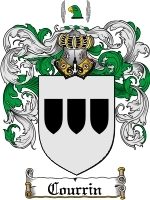 Courrin Family Crest / Coat of Arms JPG or PDF Image Download