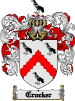 Primary image for Crocker Family Crest / Coat of Arms JPG or PDF Image Download