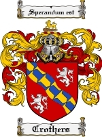 Primary image for Crothers Family Crest / Coat of Arms JPG or PDF Image Download