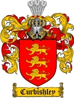 Primary image for Curbishley Family Crest / Coat of Arms JPG or PDF Image Download