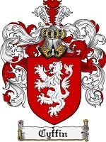 Cyffin Family Crest / Coat of Arms JPG or PDF Image Download