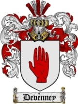 Devenney Family Crest / Coat of Arms JPG or PDF Image Download - $6.99