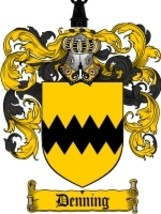 Denning Family Crest / Coat of Arms JPG or PDF Image Download - $6.99