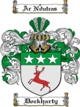 Dockharty Family Crest / Coat of Arms JPG or PDF Image Download - $6.99