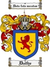 Duthe Family Crest / Coat of Arms JPG or PDF Image Download - $6.99