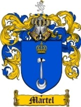 Martel Family Crest / Coat of Arms JPG or PDF I... - $6.99