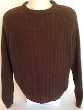 Woolrich Brown Wool Blend Pullover Sweater Mens Size Large L Hunting Ski... - $637,23 MXN