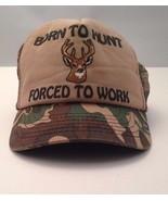 Born to Hunt Cap Hat Vintage Trucker Hunting Deer One Size - $19.33