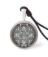 Vietsbay's Mayan Calendar Necklace Pendants Pewter Silver - £7.59 GBP