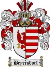 Beyersdorf Family Crest / Coat of Arms JPG or PDF Image Download - $6.99