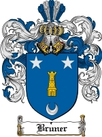 Primary image for Bruner Family Crest / Coat of Arms JPG or PDF Image Download