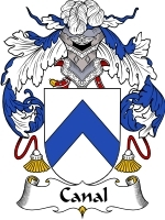 Primary image for Canal Family Crest / Coat of Arms JPG or PDF Image Download