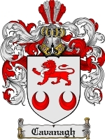 Primary image for Cavanagh Family Crest / Coat of Arms JPG or PDF Image Download