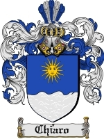 Primary image for Chiaro Family Crest / Coat of Arms JPG or PDF Image Download