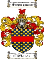 Primary image for Clifforde Family Crest / Coat of Arms JPG or PDF Image Download