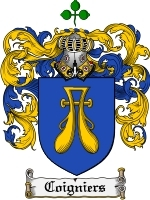 Primary image for Coigniers Family Crest / Coat of Arms JPG or PDF Image Download