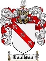 Primary image for Coullson Family Crest / Coat of Arms JPG or PDF Image Download