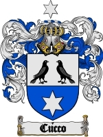 Cucco Family Crest / Coat of Arms JPG or PDF Image Download