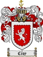 Primary image for Croy Family Crest / Coat of Arms JPG or PDF Image Download