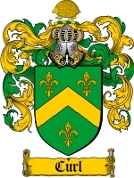 Primary image for Curl Family Crest / Coat of Arms JPG or PDF Image Download