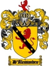 D'Alessandro Family Crest / Coat of Arms JPG or PDF Image Download - $6.99