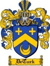 Deturk Family Crest / Coat of Arms JPG or PDF Image Download - $6.99