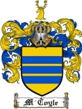 M'Coyle Family Crest / Coat of Arms JPG or PDF Image Download - $6.99