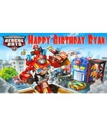 Transformers Rescue Bots -Personalized- Vinyl Birthday Banner Decoration - $34.95