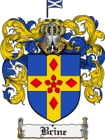 Primary image for Brine Family Crest / Coat of Arms JPG or PDF Image Download
