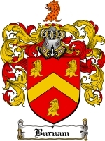 Primary image for Burnam Family Crest / Coat of Arms JPG or PDF Image Download