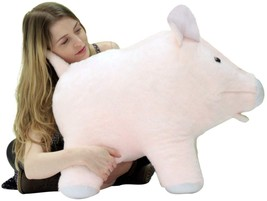 American Made Giant Stuffed Pink Pig 27 inches Soft Made in the USA America - $97.20