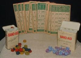VTG 1948 TRANSOGRAM Gold Medal Bingo Cards Markers Calling Numbers Bonus... - $6.92