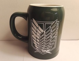 Attack on Titan Large Green Mug, Good Condition - $9.89