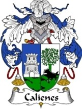 Calienes Family Crest / Coat of Arms JPG or PDF Image Download - $6.99