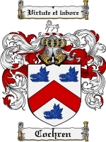 Cochren Family Crest / Coat of Arms JPG or PDF Image Download