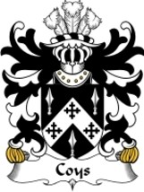 Coys Family Crest / Coat of Arms JPG or PDF Image Download - $6.99