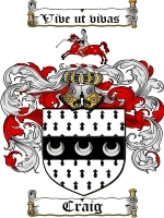 Craig Family Crest / Coat of Arms JPG or PDF Image Download