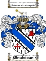 Dinnistoun Family Crest / Coat of Arms JPG or PDF Image Download - $6.99
