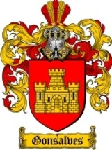 Gonsalves Family Crest / Coat of Arms JPG or PD... - $6.99
