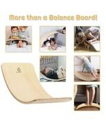 Wooden Wobble Balance Board Kids 35'' Rocker Yoga Curvy Board Toy with F... - $97.85+