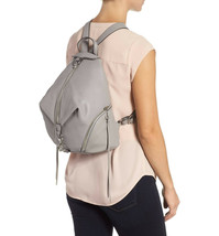 Nwt Rebecca Minkoff Lrg Julian Full Size Leather Backpack Grey Silver Authentic! - $224.00