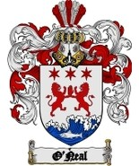 O'Neal Family Crest / Coat of Arms JPG or PDF Image Download - $6.99