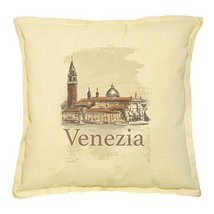Vietsbay's Venice, San Giorgio Maggiore Prints Khaki Decorative Pillows ... - $15.99