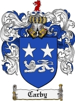 Primary image for Carby Family Crest / Coat of Arms JPG or PDF Image Download