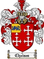 Primary image for Chaises Family Crest / Coat of Arms JPG or PDF Image Download
