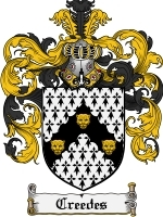 Primary image for Creedes Family Crest / Coat of Arms JPG or PDF Image Download
