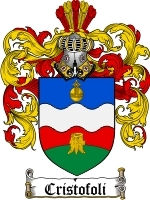 Cristofoli Family Crest / Coat of Arms JPG or PDF Image Download